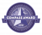 Leadershiip Council on Legal Diversity Compass Award logo