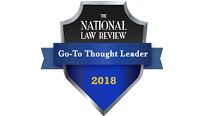 National Law Review 2018 Go-To Thought Leader award graphic