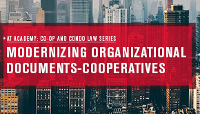 Modernizing Organizational Documents - Cooperatives