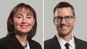 Attorneys Jennifer Byrne and Jim Heinen