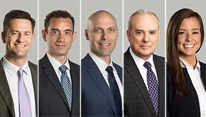 Richard Brophy, Zach Howenstine, Mark Thomas, Charles Palella, and Abby Twenter